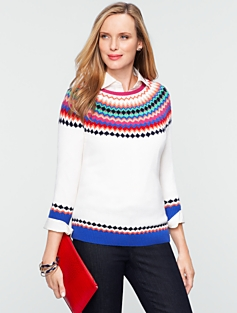Talbots Cozy Fair Isle Sweater