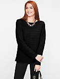 Talbots Cashmere Ribbed Dolman Sweater