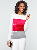Snowflake Colorblocked Sweater