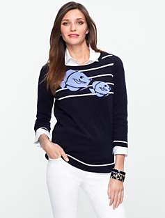 Talbots Cashmere Angelfish Sweater