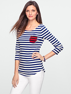 Stretch Weekend Stripe Tee