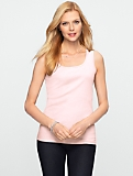 Stretch Weekend Terry Scoopneck Tank