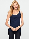 Stretch Weekend Rib Scoopneck Tank