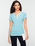 Striped Stretch Weekend Henley