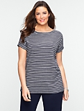 Pebble-Stripe Tee