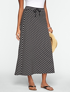 Striped Maxi-Skirt