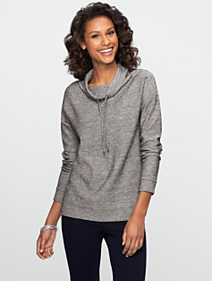 Textured Funnel-Neck Sweatshirt