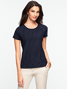 Nantucket Lace-Front Tee