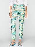Heritage Watercolor Jacquard Ankle Pants