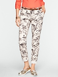 Botanical Bird Print Weekender Pants