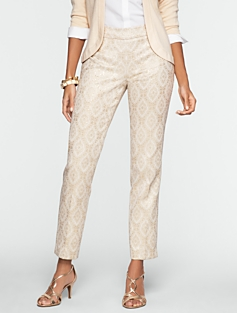 Signature Sparkle Jacquard Ankle Pants