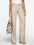 Curvy Linen Wide-Leg Pants