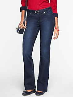Slimming Signature Dark Ocean Wash Bootcut Jeans