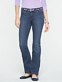 Slimming Signature Medium Ocean Wash Straight-Leg Jeans