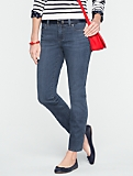 Slimming Signature Medium Ocean Wash Ankle Jeans
