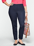 Slimming Heritage Side-Zip Ankle Jeans