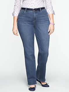 Slimming Heritage Medium Ocean Wash Bootcut Jeans