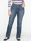 Slimming Curvy Medium Ocean Wash Straight-Leg Jeans
