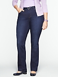 Slimming Heritage Dark Ocean Wash Straight-Leg Jeans