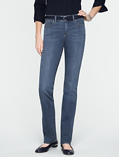 Slimming Heritage Medium Ocean Wash Straight-Leg Jeans