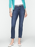 Slimming Heritage Medium Ocean Wash Crop Jeans