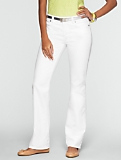 Slimming Signature White Bootcut Jeans