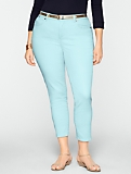 Slimming Curvy Colored Crop Jeans