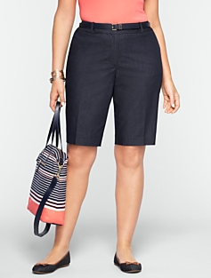 Refined Denim Bermudas