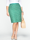 Geo Tape-Tweed Skirt