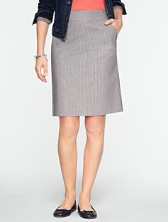 Ticking-Stripe A-Line Skirt