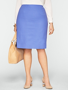 Symphony Textured Pencil Skirt