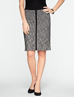 Basket-Tweed Skirt