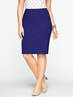 Cotton Bi-Stretch Pencil Skirt