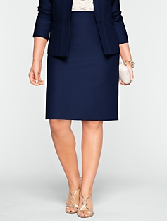 Faille Pencil Skirt