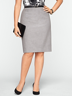 Modern Crepe Pencil Skirt