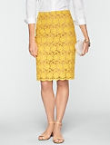 Daisy Lace Pencil Skirt