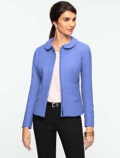 Park-Textured Zip-Front Jacket