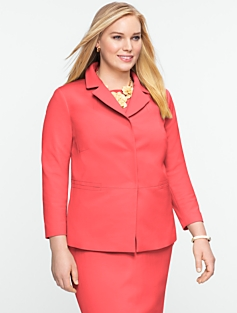 Polished Snap-Front Jacket