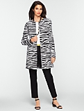Long Zebra-Print Jacket