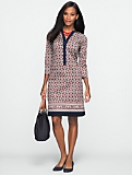 Medallion-Print Tunic Dress