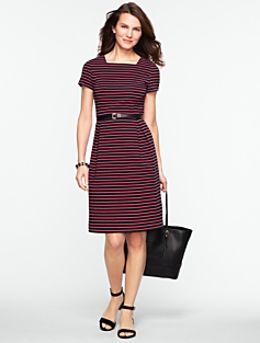 Striped Corded Tulip Dress