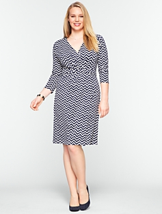 Chevron-Stripe Dress