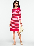 Slub-Knit Striped Tee Cotton Dress