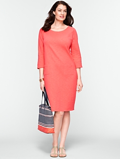 Slub-Knit Cotton Tee Dress