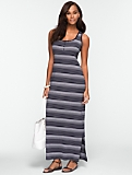 Cotton Ombr�-Stripe Maxi Dress
