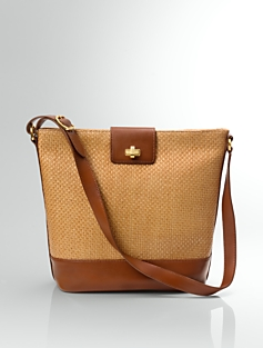 Straw & Leather Bucket Bag