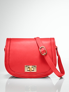Leather Flap-Front Bag