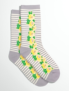 Flower & Stripe Socks