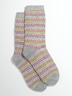 Dot-Stripe Socks