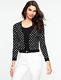 Polka-Dot Dress Shrug